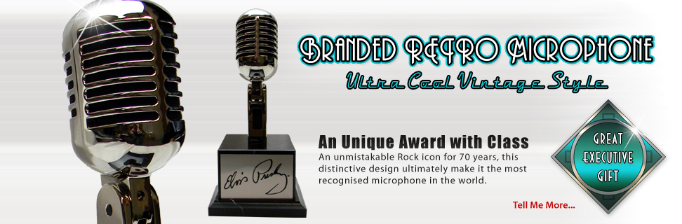 Vintage Microphone promo award provided by Brand O' Guitar Company.